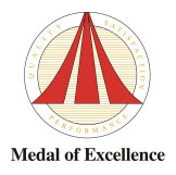 Quality, Satisfaction, Performance Medal of Excellence